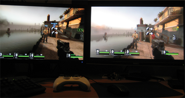 On the left PC - On the right Xbox 360